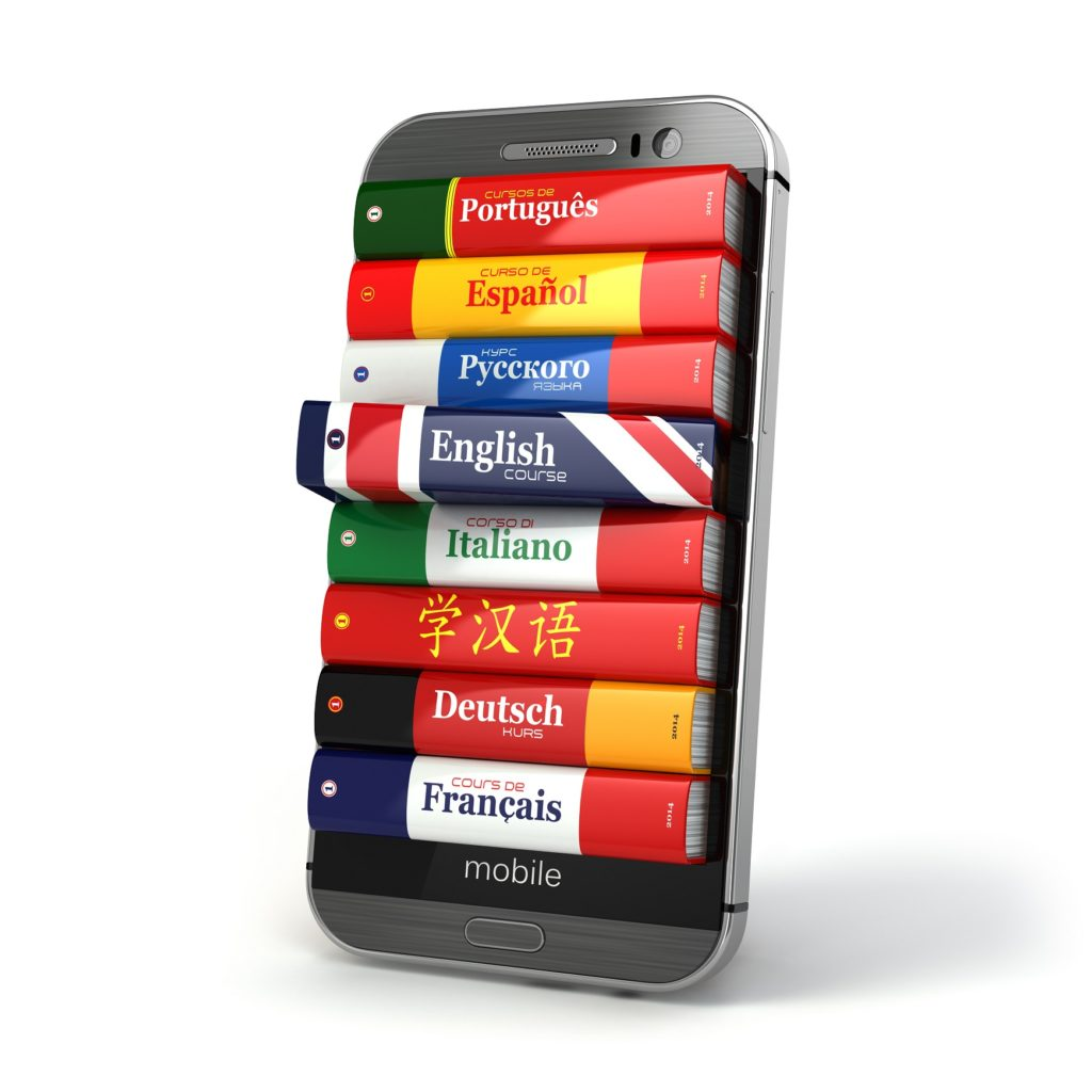 E-learning. Mobile dictionary. Learning languages online.